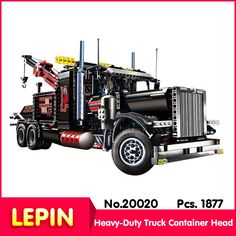 68.40$  Watch here - http://aicah.worlditems.win/all/product.php?id=32793633509 - LEPIN 20020 1877Pcs Technic Series American Heavy-Duty Truck Container Head Model set Building Kits Model Compatible With 8285
