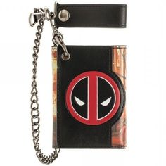 Deadpool Chain Wallet by Bioworld Marvel Comics Officially Licensed Dead Pool Deadpool Wallet, Deadpool Images, Silver Platters, Socks For Sale, Wallet Chain, Marvel Universe, Marvel Comics, Nerdy, Best Gifts