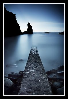 Portcoon Jetty, Bushmills, Northern Ireland Copyright: Chris Ibbotson