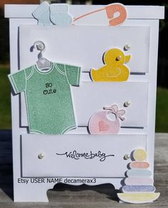 Handmade Welcome Baby Card STAMPIN' UP Something for