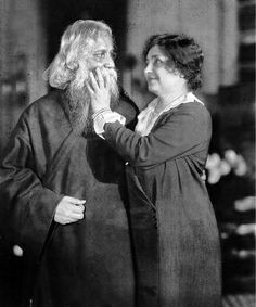 Rabindranath Tagore and Helen Keller,  New York 1930.