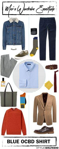 Style Girlfriend   Men's Wardrobe Essential: Blue Oxford Cotton Button Down