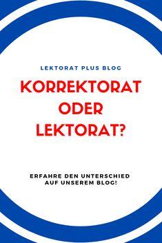 Korrektorat oder Lektorat? Erfahre auf unserem Blog wo die Unterschiede sind. North Face Logo, The North Face, Blog, Communication, Science, Education, Reading, The Nord Face