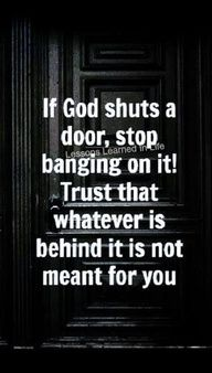 If God shuts a door...