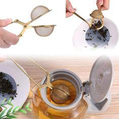 Mesh Tea Strainer Stainless Steel Handle Ball Sphere Tea Infuser for Teapot Herb Spice Filter Kitchen Gadgets Tea Tools Loose Tea Infuser, Tea Strainer, Food Grade, Tea Pots, Spices, Handle, Herbs, Stainless Steel, Filter