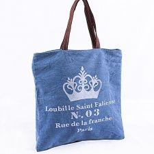 Bag in tessuto denim stampato
