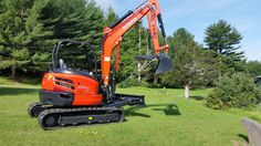 Go for Kubota U55 construction equipment which is light tail swing compact excavator available online on rental basis.