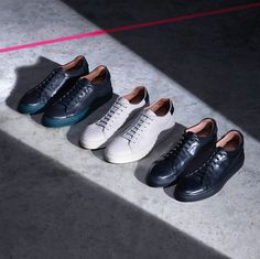A refined tennis shoe with a distinct Italian flavour, the new Basso (Italian for low) trainer is one of the standout shoes from our AW15 mainline collection – as well as being Paul's favourite shoe.
