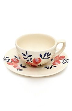 Flowers of Liberty Floral Stenciled Ceramic Cup & Saucer available at #Nordstrom