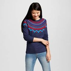 Women's Favorite Pullover Yolk Fairisle Sweater - Merona™ : Target