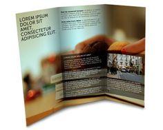 Brochure design, tri-fold, full color.