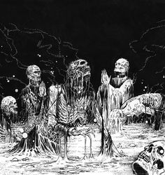 Mark Riddick - Close your mouth, open your mind. Creepy Images, Creepy Pictures, Art Pictures, Arte Horror, Horror Art, Dark Fantasy, Fantasy Art, Zombies, Dark Art Drawings