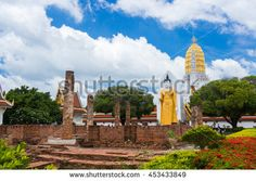 Wat Phra Si Rattana Mahathat also colloquially referred to as Wat Yai is a Buddhist temple (wat) in Phitsanulok Province, Thailand. - stock photo