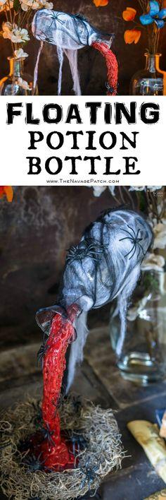 Magical Floating Potion Bottle; slightly modify