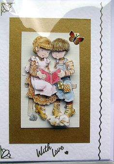 Story Time HandCrafted 3D Decoupage Card  With by SunnyCrystals, £1.75