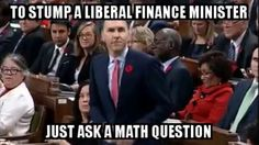 How to stump a Liberal finance minister...