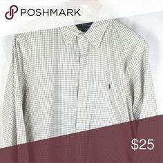 Ralph Lauren Men's Classic Fit Dress Shirt Pre-owned, Long sleeve checked Ralph Lauren Shirts Dress Shirts