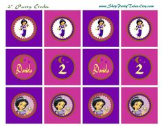 Baby Jasmine Printable birthday party Collection by ShopPartyTales,