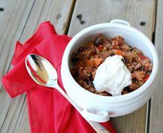 Vegetarian Quinoa Black Bean Chili via @Rachel