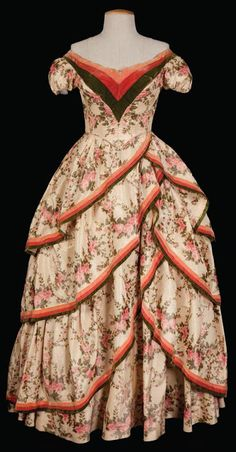 Silk Floral dress worn by Debbie Reynolds in How The West Was Won