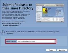Submit Podcast iTunes directory