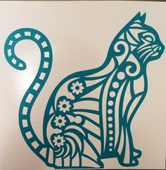 Cat vinyl decal