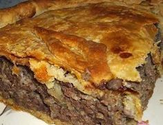 French Meat Pie……Thee GREATEST Meat Pie on The Planet! More from my site French Meat Pie French Canadian Tourtière (meat pie) Irish Meat and Guinness Pie Classic Meat Pie Mrs. Wheat's Natchitoches meat pie recipe: Bring fest taste home Aussie Meat Pie French Meat Pie, Meat Recipes, Cooking Recipes, Yummy Recipes, Cooking Ideas, Cooking Chef, Simply Recipes, Healthy Recipes, Skinny Recipes