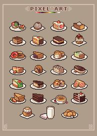 Chocolate Cake Pixel Art : Pin by Marcello Brasola on Food Pinterest Ramen ...