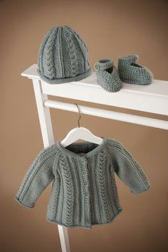 LANA GROSSA FILATI Infanti 8 Modell 6-8: Jacke, Mütze, Schuhe (Pashmina)