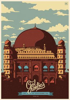Travel Postcards & Posters by ranganath krishnamani, via Behance