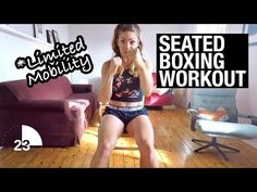 Seated Cardio Boxing Workout for Disabled, Injured, Paraplegic or Amputee - Fitness Cardio Boxing, Kickboxing Workout, Workout Partner, Fun Workouts, At Home Workouts, Body Workouts, Studio Workouts, Workout Routines, Boxing Routine