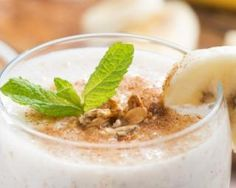 Smoothie mange-graisses banane, avoine et cannelle