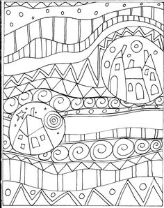 You are dealing with Karla Gerard, Maine Folk Art/Abstract Artist, Originator/Creator of concentric circles/flowers in trees paintings and in landscapes. Over of my original paintings are in worldwide collections. Folk Embroidery, Embroidery Patterns, Colouring Pages, Coloring Books, Karla Gerard, Doodles Zentangles, Primitive Folk Art, Art Plastique, Rug Hooking