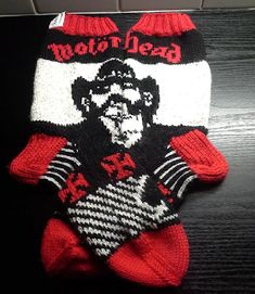 Knit Mittens, Knitting Socks, Mitten Gloves, Knit Socks, Ravelry, Lemmy Motorhead, Knitting Patterns, Crochet Patterns, Cool Socks