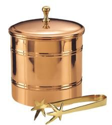 @Overstock.com - Old Dutch D�cor Copper Lined Ice Bucket with Tongs - Keep your ice frozen and ready for use for extended lengths of time with this lined copper ice bucket. The bucket is crafted from copperplated stainless steel to present an attractive exterior that goes along well with a traditional wooden bar.  http://www.overstock.com/Home-Garden/Old-Dutch-D-cor-Copper-Lined-Ice-Bucket-with-Tongs/6997252/product.html?CID=214117 $32.32