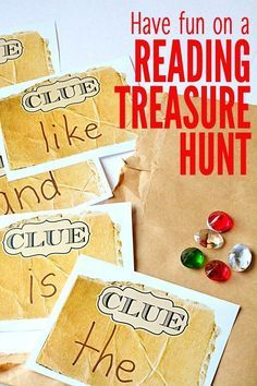 We're going on a treasure hunt, but not just any treasure hunt. It's a treasure hunt that sneaks in a little reading practice. So grab a list of sounds, sight words or vocabulary words that your child needs to practice and get ready to play.