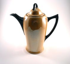 Small Pitcher Teapot with lid Peach Luster by MissPattisAttic, $14.50