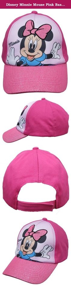 Disney Minnie Mouse Pink Baseball Cap - Size Girls 4-14 [6014]. Bring Your Favorite Character From Disney, Minnie Mouse Baseball Cap In Size Girls 4-14, Featuring Minnie with dance mode Samee Glittered style beautiful all kids will Fall in Love with, on Minnie smiling face a Hot Pink Bow add, it will make your kids happy at all time, One Size Fits Most Girls, Officially Licensed By Disney Products, Great Gift for all Kids,.