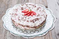 Erdbeer-Stracciatella-Quark-Torte by Froilainchen B. | froilainchen-b.blogspot.de | Januar 2017  geeignet für:  lowcarb | mehlfrei | sojafrei | lchf | Stoffwechselkur | ab erweiterter Hcg Phase