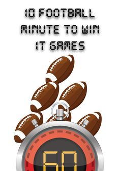Football Minute to Win It Games - Super Bowl – Children's Ministry Deals Football Games For Kids, Football Party Games, Football Birthday, Free Football, Kids Football Parties, Sunday School Games, Church Games, Youth Group Games, Minute To Win It Games