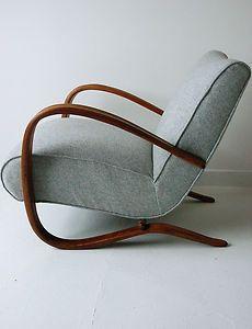 H269 JINDRICH HALABALA CHAIR ARMCHAIR vintage deco midcentury modern antique | eBay