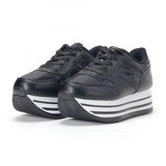 Pantofi sport de dama negri cu platforma și paiete it160318-42 | Fashionmix.ro Discount Wallpaper, Stil Retro, Badgley Mischka, Air Jordans, Sneakers Nike, Casual, Oxford, Fabric, Shoes
