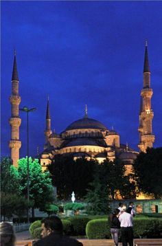 The Blue Mosque in old Istanbul is one of the finest buildings I've seen in the World, almost magical at the blue moment just after sunset.