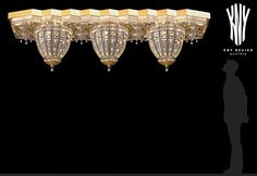 Large Ceiling Light Large Cast Crystal Ceiling Lighting Design by Kny Design with Swarovski Elements and ornamental cast Gold Plated Ceiling Light Design, Ceiling Lighting, Lighting Design, Swarovski, Crystal Ceiling Light, Led, Chandeliers, Decorations, Lights