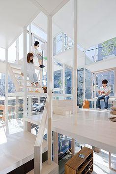 House NA - Tokyo - Japan  by Sou Fujimoto Architects.  Photography Iwan Baan.