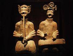 My favourite artifacts at the Shanghai Museum. A pair of funerary terra-cotta figurines of musicians. When you see them live, they are so full of joy it makes you laugh with them.  http://arts.cultural-china.com/en/143Arts8203.html