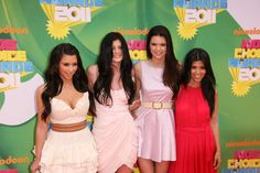 Kim Kardashian, Kendall Jenner, Kylie Jenner, and Kourtney Kardashian arriving at the 2011 Kids Choice Awards