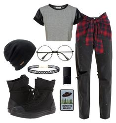 """Untitled #157"" by kbrill5555 on Polyvore featuring Coal, NARS Cosmetics, LULUS, RE/DONE, River Island and Converse"