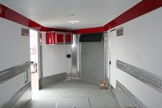 Touch of Class Trailers – Red Interior raceways, cabinets, Grey ...