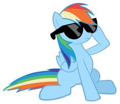 Image - FANMADE Rainbow Dash in sunglasses.png - My Little Pony ...
